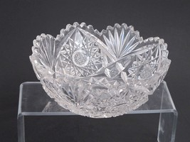 American Brilliant Period hand Cut Glass Antique 7 bowl ABP Wedding gift... - $69.78