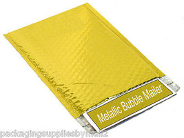 "7"" x 6.75"" Gold Metallic Glamour Bubble Mailers Padded Envelope 2000 Pieces - $860.51"