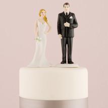 Curvy Bride Big & Tall Groom Wedding Cake Topper Couple HAIR COLOR CUSTO... - $27.98