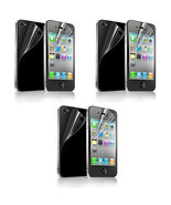 3X Front Back Clear Crystal Screen Protector Guard Shield For Apple iPho... - $6.99
