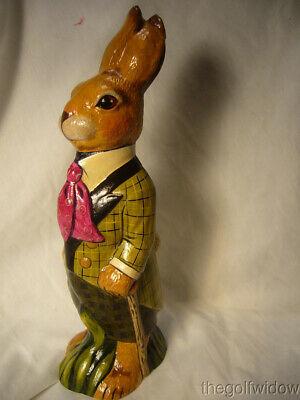 Vaillancourt Folk Art Wonderful Derby Rabbit for Easter no. 21002