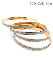 NEW SHIMMER BANGLE SET of 4 Mulit-line~SILVER or GOLD-TONE~NWT Free US S... - $6.95