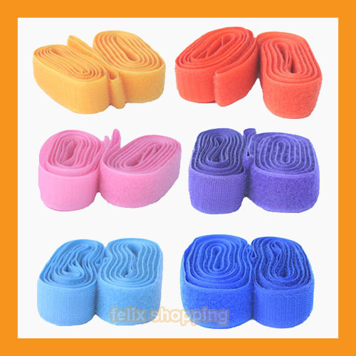 "8 velcro tapes 1"" sew on hook loop rolls strap 17yd 23 color clothing home craft"