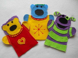 Jack, Mary and Mel from the Jack's Big Music Show hand Puppets - $14.99