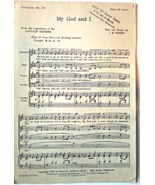 "Vintage Sheet Music -1935 Christian Sheet Music ""My God and I"" #7173 - $5.99"