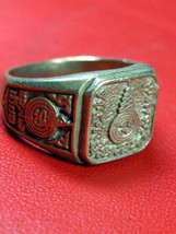 Very Rare! Holy Magic Ring LP Iad Pai-Lom Temple Top Thai Buddha Amulet - $19.99