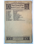 """Antique Sheet Music 1916 """"Winter Song"""" ..Collection From Boy's Glee Club... - $5.99"""