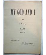 "Vintage Sheet Music -1935 Vintage Christian Sheet Music ""My God and I""  ... - $5.49"