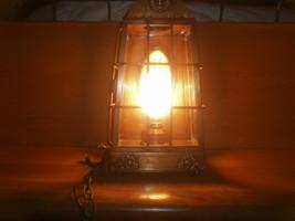 "Brass Hanging Light Fixture , "" Underwriters Laboratories "" - $100.00"
