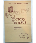 "Vintage Sheet Music -Vintage Christian Sheet Music 1950s ""Victory In Jes... - $3.99"
