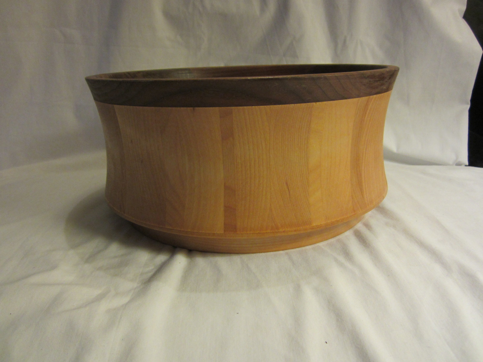 "Williams Sonoma Vermont Bowls Signed McLeod 12"" Birch Wood Salad, Serving Bowls"