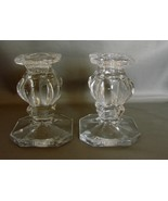 Pair Of Magnificent  Gorham Crystal Candle Holders - $22.00