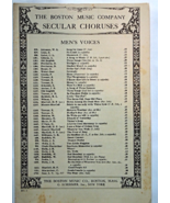 "Antique Sheet Music - 1916 ""Shadow March"" Chorus for Men's Voices #7165 - $5.99"