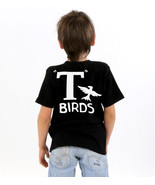 T Birds black child boys shirt Greaser Shirt tee Tshirt black lightning rocker  - $12.99