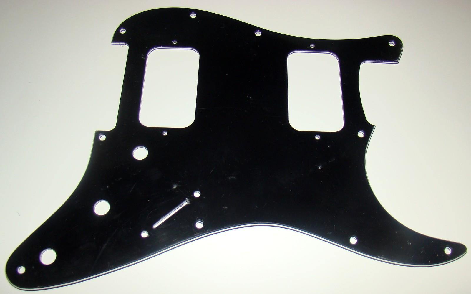 3 Ply Pickguard For Fender Stratocaster® For Two Humbuckers, Black/White/Black - $17.95 - $19.95