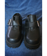 Harley-Davidson Black Leather Clog Shoes - Size 6.5 - $39.99