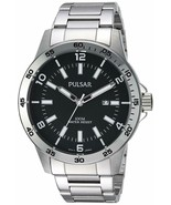 Pulsar Men's Quartz Stainless Steel Dress Watch, Color:Silver-Toned  PH9... - $69.95