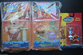 Disney's Hercules Action Figure Lot- Hermes, Hercules, Cyclops & + Matte... - $46.39