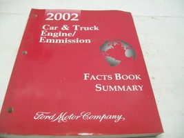 OEM 2002 Ford Car & Truck Engine/Emission Facts Book Summary P/N PG-558 - $4.94