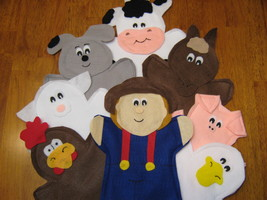 Old MacDonald had a farm hand Puppets - $33.99