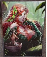 Poison Ivy With Baby Groot Glossy Print 11 x 17 In Hard Plastic Sleeve - $24.99