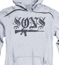 Sons of Anarchy TV crime series California adult graphic hoodie SOA160 image 3