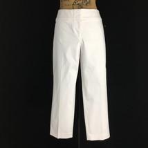 Ann Taylor LOFT 12 Pants Marisa Fit White Ankle 2 Pocket Flat Front Wash... - $19.95