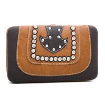 Montana West Western Style Frame Wallet w/ Rhinestone & Stud Accents - $20.56