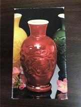 Avon Jade Green Spring Bouquet Fragranced Vase Vintage In Box 1981 - $19.99