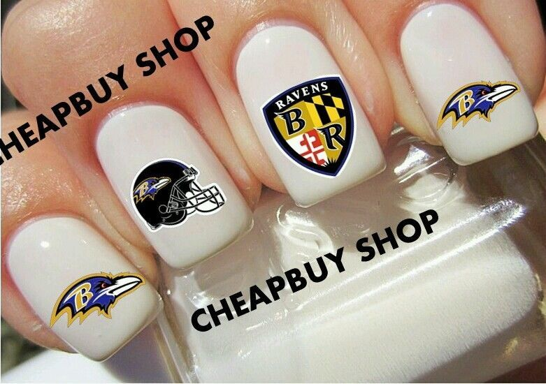 57 Topquality Baltimore Ravens Football Nail Decals Tattoo Designs Non Toxic