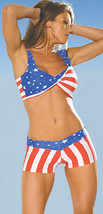 Star Spangled Shorts and Twisted Top in Red, White & Blue Stars and Stri... - $19.99