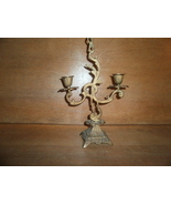 Antique Brass Candle Holder , Gothic Look  - $30.00