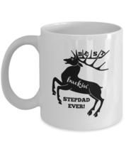 Best Buckin' Stepdad Ever 11oz White Ceramic Coffee, Tea Cup, Valentines Day  - $14.84