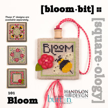 Bloom Bits Squareology fob cross stitch chart Just Another Button Company - $5.00