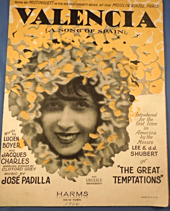 "Primary image for Vintage Sheet Music - 1926  ""Valencia"" ( A Song of Spain)  #7682"