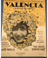 "Vintage Sheet Music - 1926  ""Valencia"" ( A Song of Spain)  #7682 - $4.99"