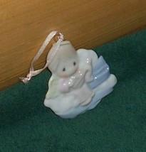 Precious Moments Cloud Angel with Lute Porcelain Decorative Ornament - $8.88