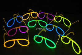 Set of 50 Assorted Glow Stick Glasses-100 glow sticks-50 connectors - $24.95