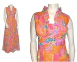 70 s orange mod floral chiffon maxi dress main4 thumb155 crop