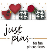 Classic Red & Black Just Pins JP185 set 5 for pincushions Just Another B... - $13.95