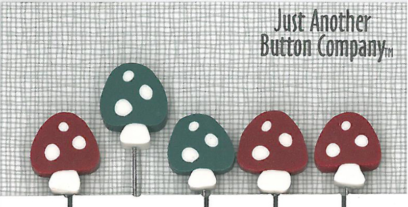 Woodsy Just Pins JP166 set 5 for pincushions Just Another Button Co