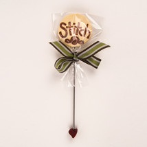 Stitch Lolly large pin for pincushions cross stitch JABC Just Another Button Co - $8.00
