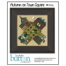 Autumn On Town Square 9946 button pack + cross stitch chart JABC - $12.90