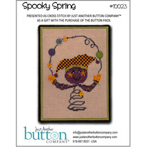 Spooky Spring10023 button pack + cross stitch chart JABC - $11.00