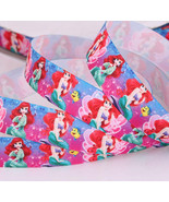 "Disney Princess Ariel Printed Grosgrain Ribbon 7/8""/DIY Hair Bow/3YARDS  - $3.75"