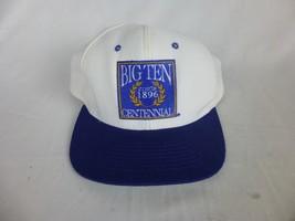 Big Ten 1986 Centennial Blue White Baseball Cap Snapback Hat Lee Sport - $19.00