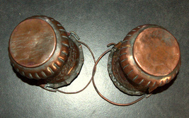 2 Antique Persian Copper Cups Jugs Hand Etched Traditional Persepolis Embossed image 4