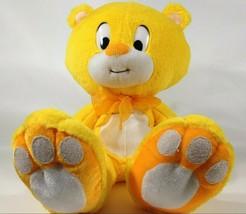 Plush Teddy Bear LARGE Yellow Sunshine Soft Asia Direct Stuffed Animal T... - $28.45