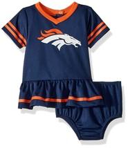 NFL Denver Broncos Infant Dazzle Dress & Panty Size 6 Month Youth Gerber - $23.93