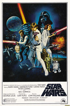 Star Wars A New Hope Vintage Poster 12x19 inches (32x49cm) - $5.00